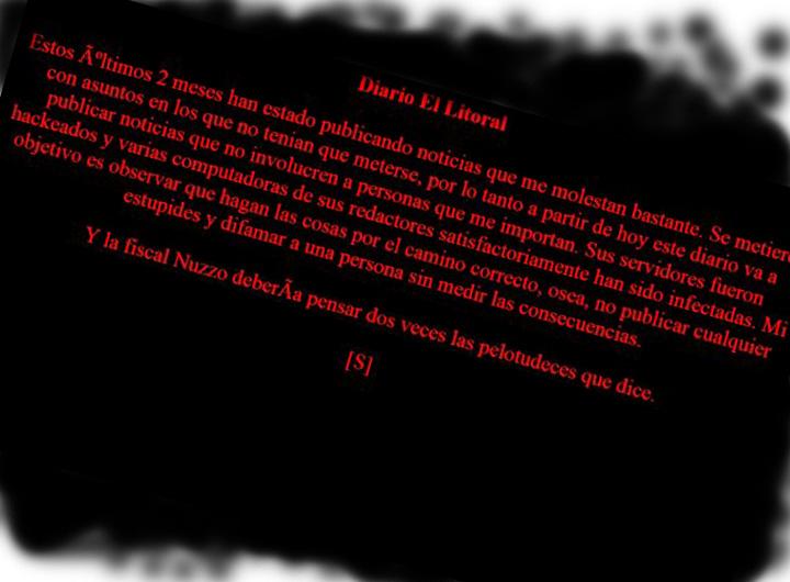 Hackean la web del diario El Litoral y amenazan a una fiscal
