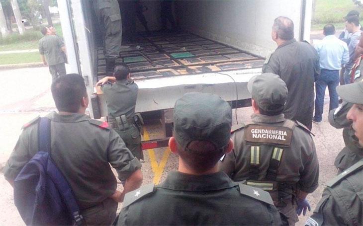Secuestraron 4 toneladas de marihuana ocultas en un camión en Villa Olivari