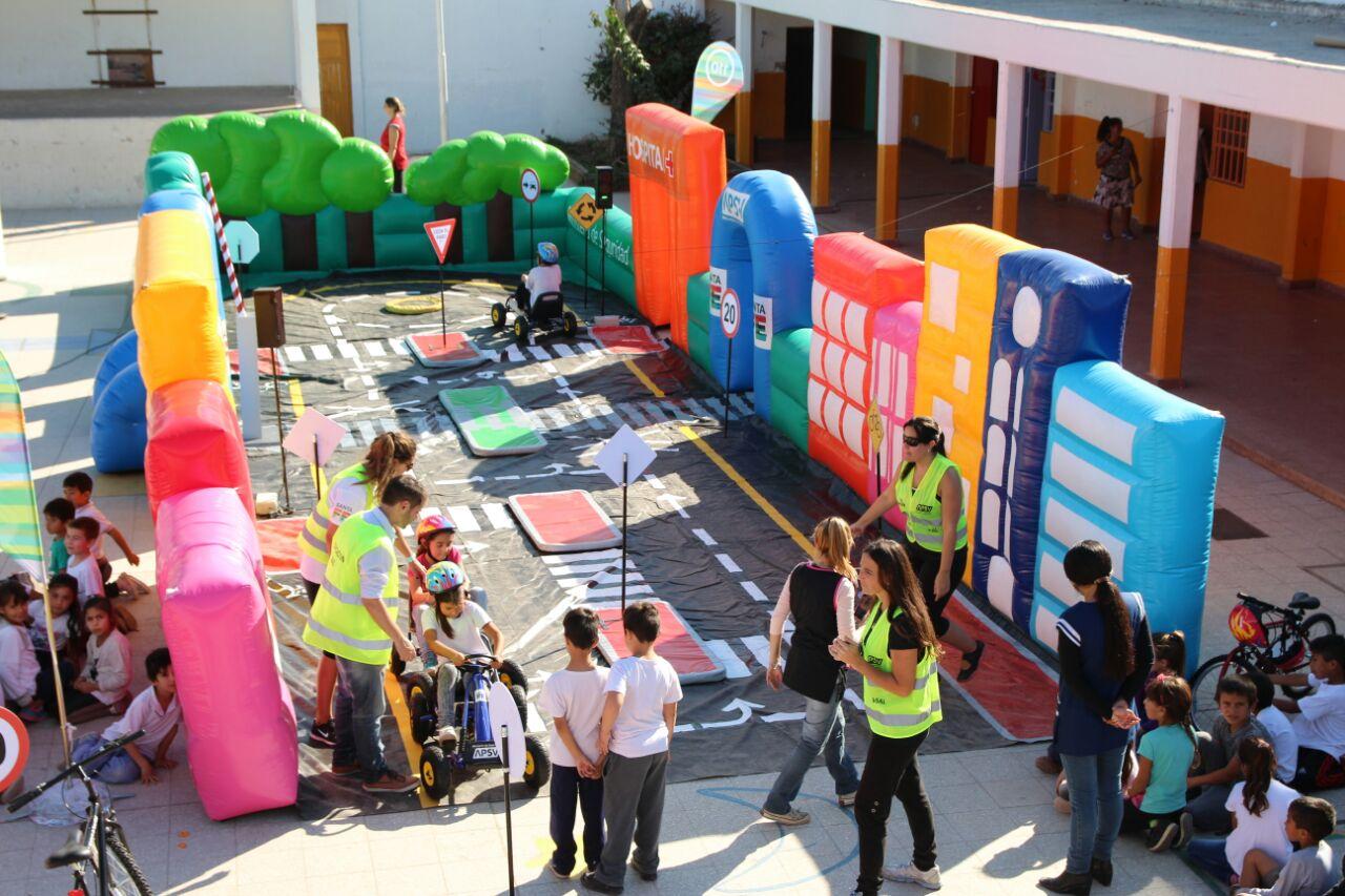 Circuito Vial : Nuevo circuito vial educativo con estudiantes primarios de