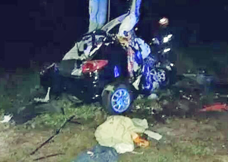 Fallecieron tres personas en un choque frontal sobre la Ruta 14