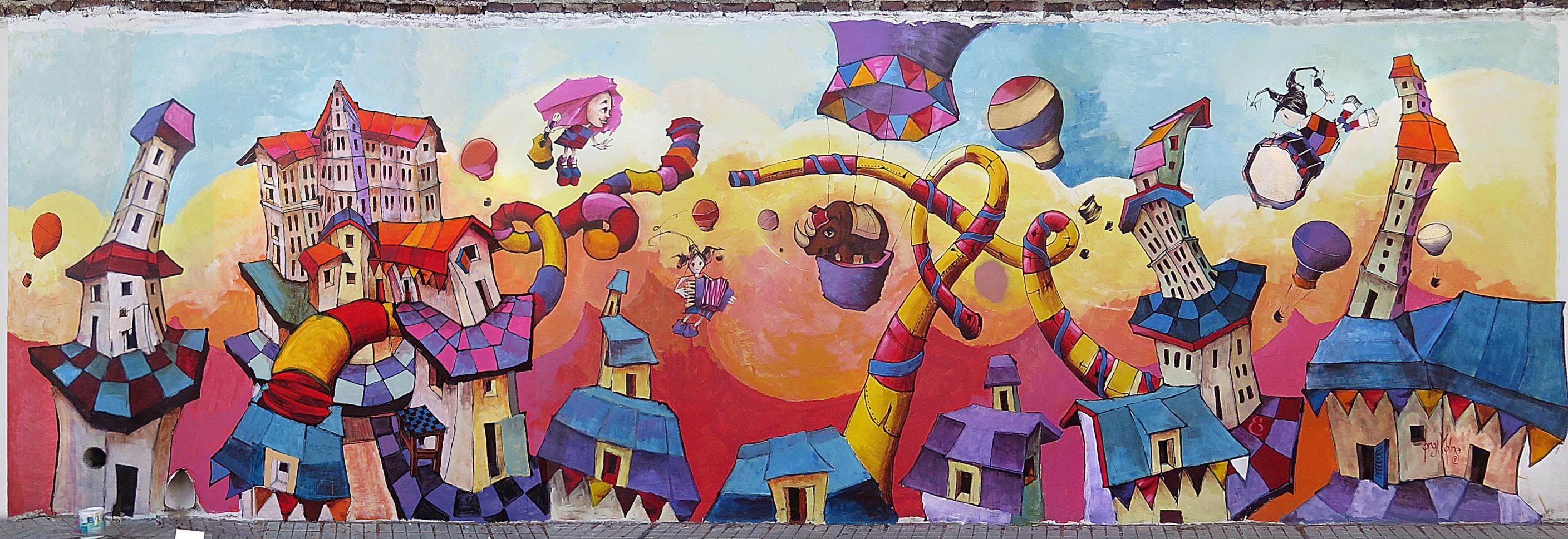 Arte urbano: proponen buscar un tesoro entre murales