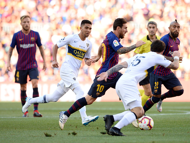 No se pudo  Boca recibió una goleada del Barcelona