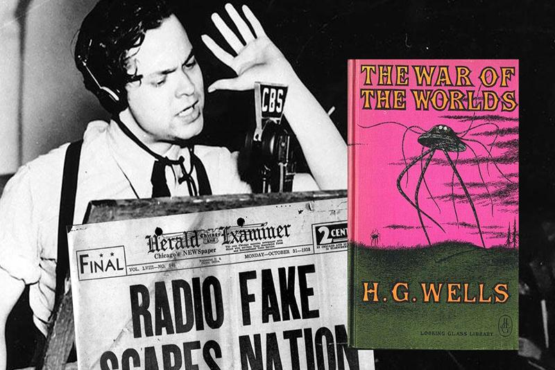 Resultado de imagen de la guerra de los mundos radio