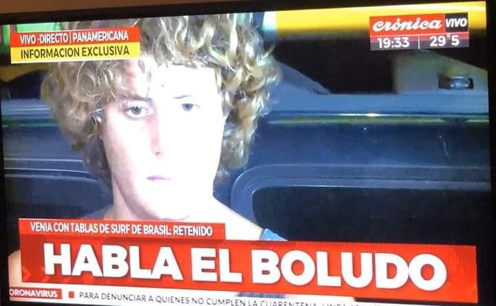 Se fugó surfer que venía de Brasil